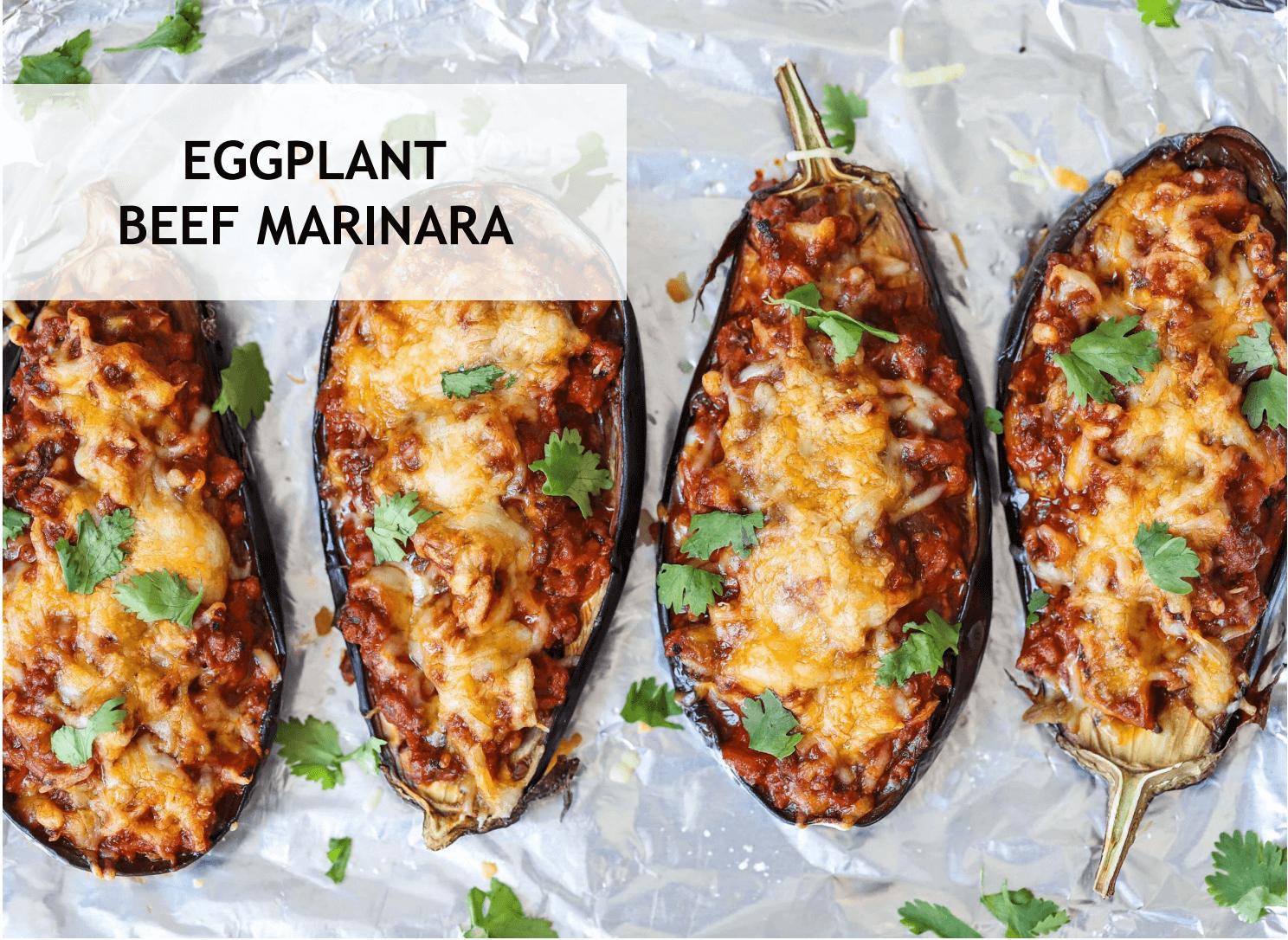 Eggplant Beef Marinara