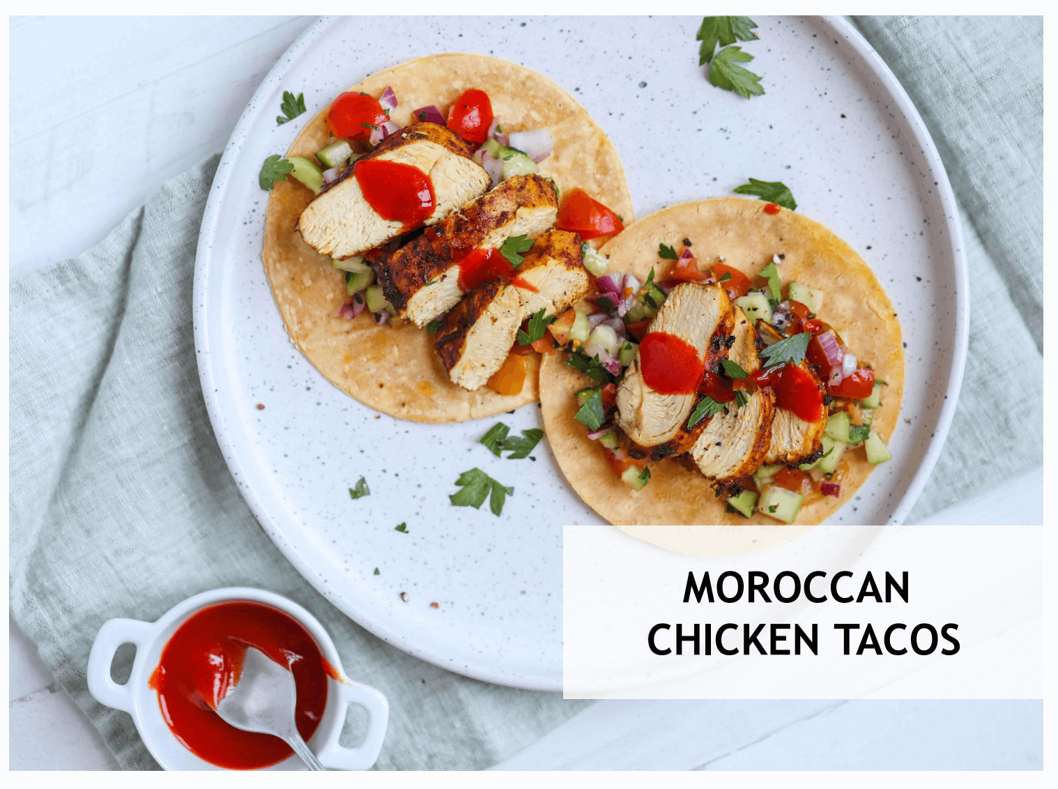 Moroccan Chicken Tacos